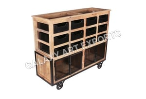Kitchen Trolley with 12 Drawers
