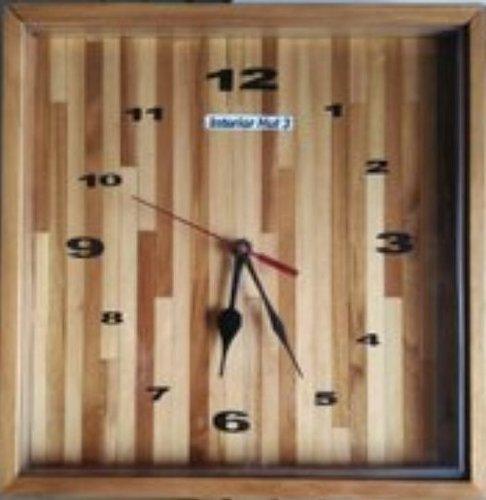 Plain Square Wooden Wall Clock