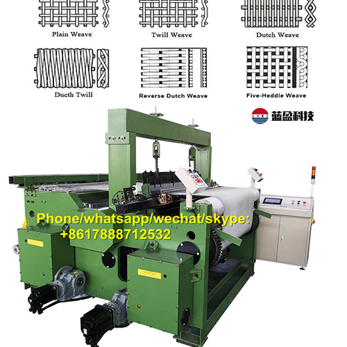Heavy Duty CNC Metal Wire Mesh Weaving Machine