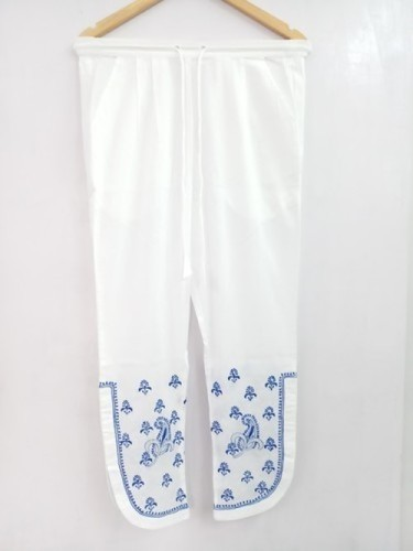 Ladies Chikan Hand Embroidered Lucknowi Pant
