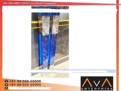 Crystal Glass Master Pillar Application: Staircase