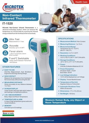 Microtek Non Contact Infrared Thermometer It-1520