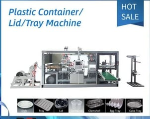 Plastic Cup lid Egg Tray Clamshell Box Pressure Forming Machine