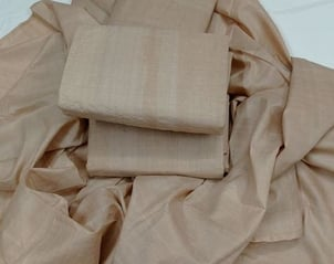 Hand Woven Tussar Fabric With Silk Mark