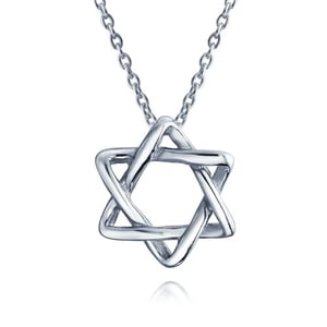 Sterling Silver Necklace Star of David