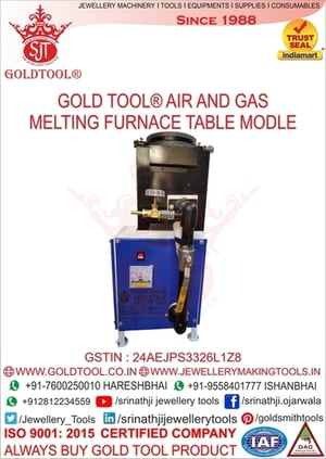 Gold Tool Air and Gas Powered Melting Furnace Table Model