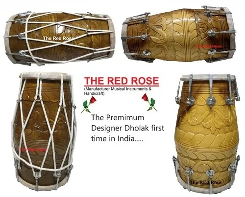 Multi-Color Designer (Nakkashi) Dholak 18 Inch Application: Concert