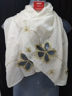 Polyester Embroidered Ladies Scarves