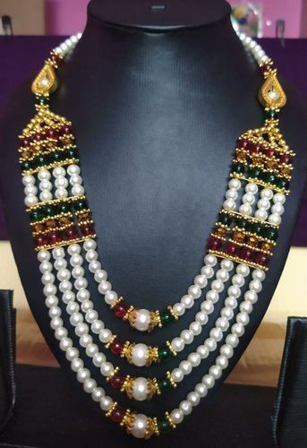 White Pearl Beaded Women'S Necklace