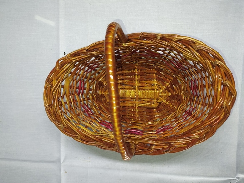 Plain Design Cane Basket