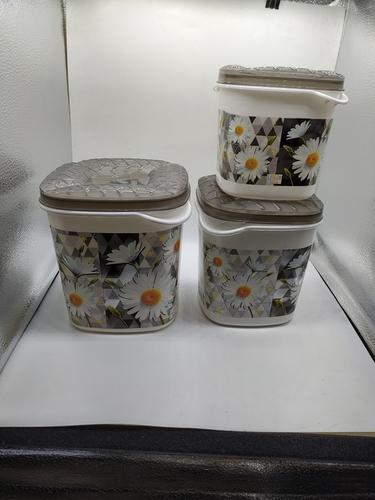 Midas Silver Gold Plastic Box 3pc Set