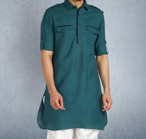 Mens Ethnic Cotton Kurta Pyjama