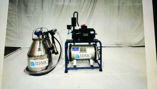 Bucket Milking Machine With Single Can Cluster Assembly