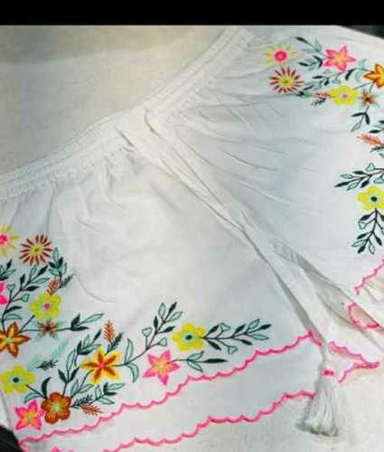 Ladies Used Fancy Cotton Shorts