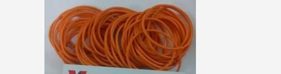 Yellow Elastic Round Rubber Bands