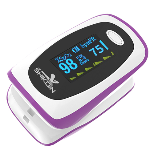 Fingertip Pulse Oximeter with Dual OLED Display
