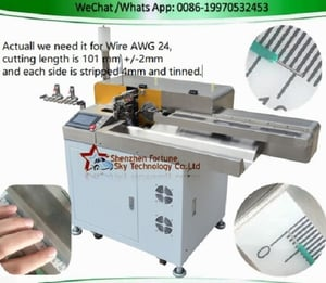 Fully Automatic Double-ends Wire Cut Strip Twist Dip Soldering Machine