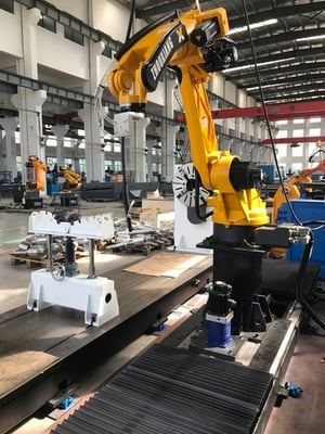 Zhouxiang 6 Axis Mig Mag Robotic Welding Arm With 6kg Load Capacity