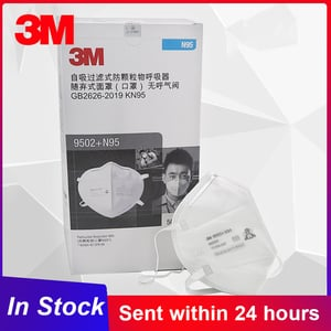 3M 9502+ N95 Noish Particulate Respirator Dust Mask
