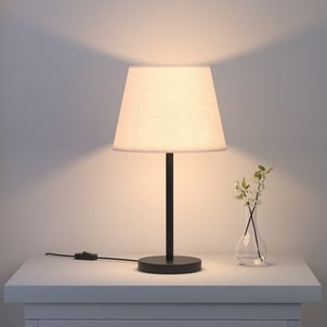 Metal Stick Table Lamp With Cylinder Shade