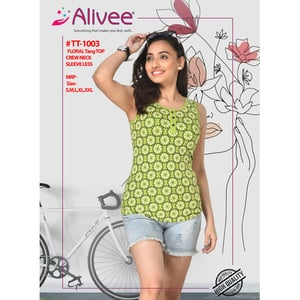 Floral Tang Top For Ladies
