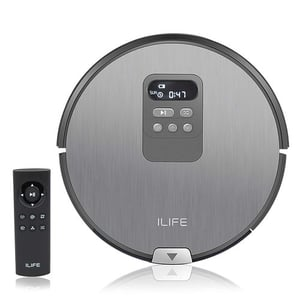 iLife X750 Smart Robotic Vacuum Cleaner Sweeper for Hard Floor and Thin Carpet, Remote Operation, Infrared High Suction and Smart Mopping with Water Tank with Digital Display