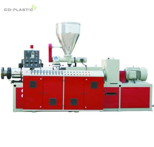 SY-HS CE ISO Plastic PVC Conical Twin Screw Extruder for Pipe Profile Sheet Extrusion