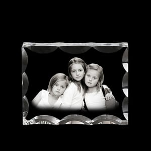 Personalized 3D Laser Engraved Crystal Photo Frame