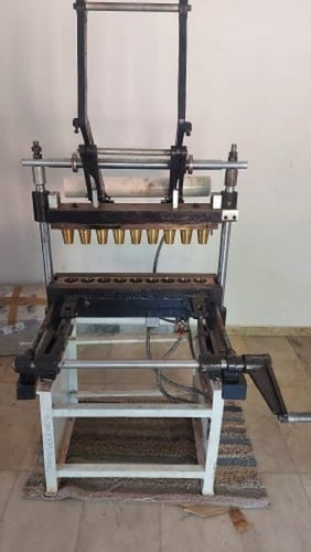 Semi Automatic Edible Biscuit Cup Making Machine