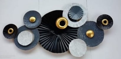 Various Colors Are Available Abstract Metal Wall Art Piece For Home Decoration