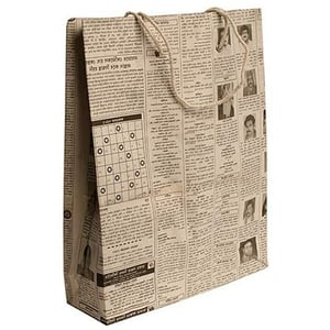 Eco Friendly Newspaper Carry Bags