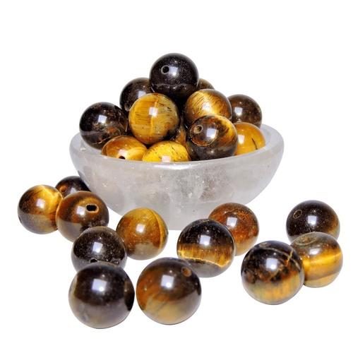 Natural Energised Tiger Eye 10mm Beads