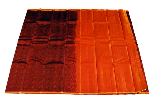 Full Emboss Silk Saree