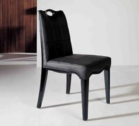 Plain Black Oak Chair