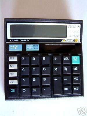 Black 12 Digit Lcd Display Calculator