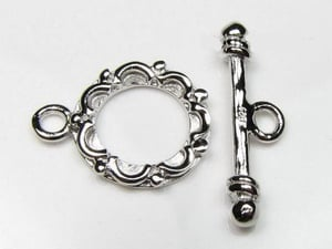 Silver Fancy Toggle Clasp