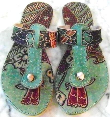 Green Flip Flop Sandals