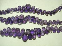 Faceted Amethyst Briolettes