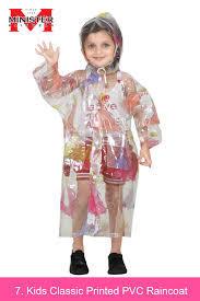 Kids Classic Printed PVC Raincoat