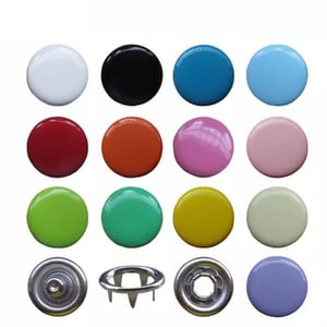 Custom Enamel Painted Ring Cap Style Five Prong Snap Button