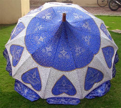 Garden Umbrella With Embroidery