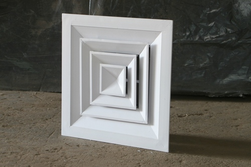 Square Ceiling Diffuser With Removable Cores