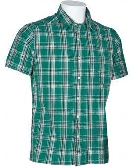 Mens Yarn Dyed Green Checks Shirts