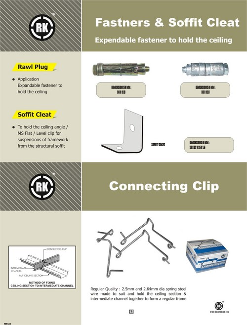 Connecting Clip And Soffit Cleat