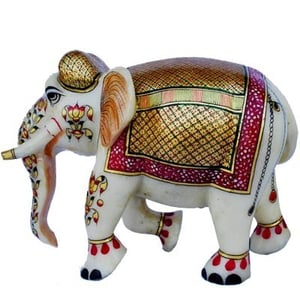 Marble Crafted Elephant