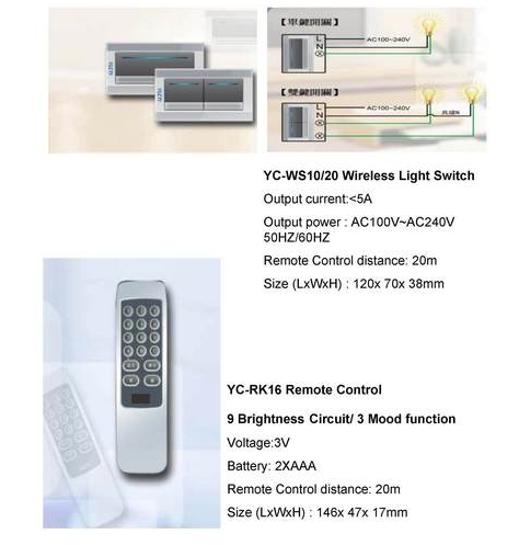Wireless Light Switch With Remote Control