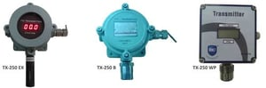 Gas Transmitters with Alpha Numeric Display