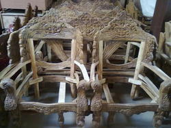 Wood Carved Sofa In 34 Sector