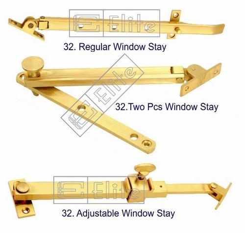 Brass Window Stay