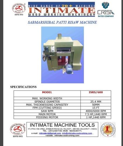 New Model Submersible Patti Ripsaw Machine
